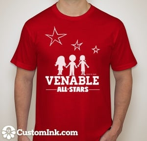 Venable Custom Ink t-shirt