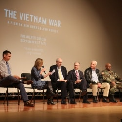 Vietnam War panel at CHS.