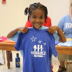 Venable student with tshirt