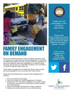 Flyer for Family Engagement on Demand