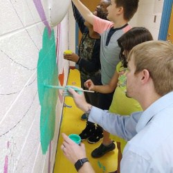 Burnley Moran Mural painting project