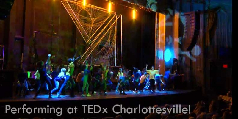 Minds in Motion Team XXL perform at TEDx Charlottesville at The Paramount Theatre.