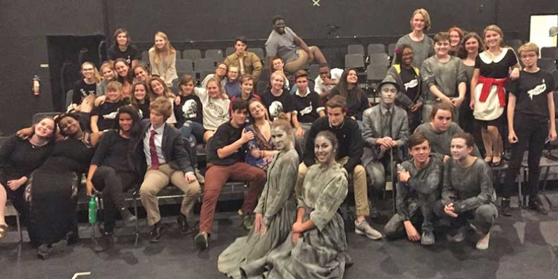 CHS theater students pose for group photo.
