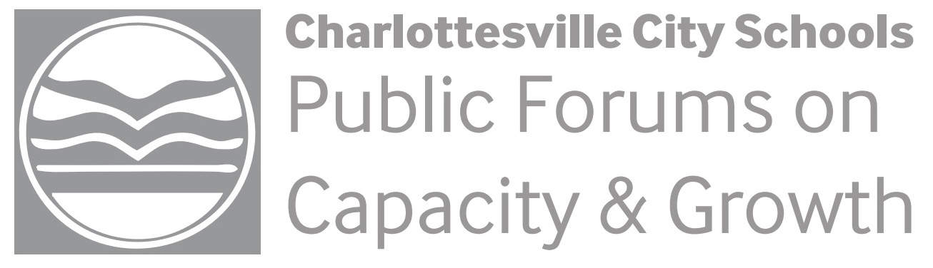 "Title slide ""Charlottesville City Schools Public Forums on Capacity & Growth."" Click on the image to view full slideshow presentation."