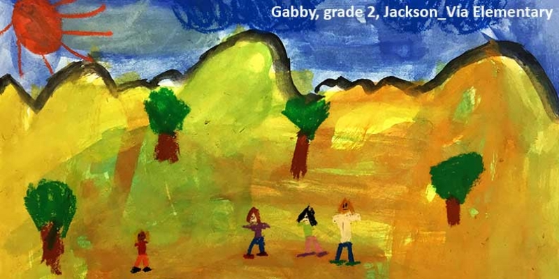 Artwork from second grade student at Jackson-Via Elementary