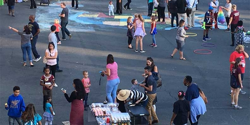 View of activities at Rocktoberfest.