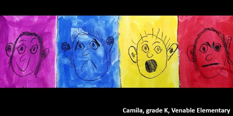 Artwork by kindergarten student at Venable Elementary