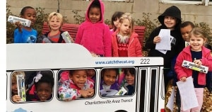 Students from Burnley Moran get to ride on the Charlottesville Area Transit bus while learning about community.