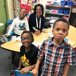 Ms. Velvet Coleman and friends have lunch at Jackson-Via.