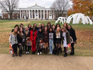 CHS students attending the Womens Global Initiative at UVA.