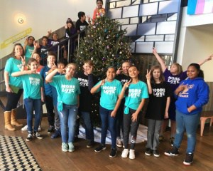 "Walker Peace Squad visits Crown Theater to see the movie ""Wonder."""