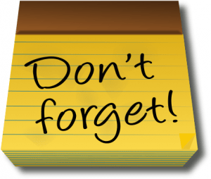 "clip art that says ""Don't Forget"""