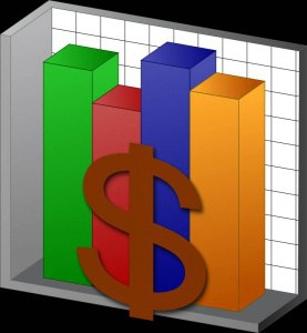 budget clip art: chart with dollar sign