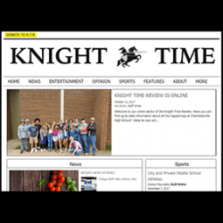 new website for student newspaper (screenshot)