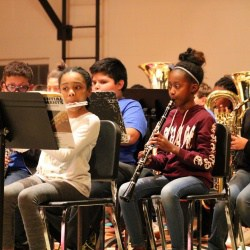 Woodwind section of the Walker Elementary 5th grade band perform.