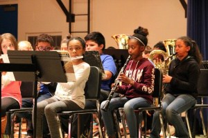 Woodwind section of the Walker Elementary 5th grade band performs.
