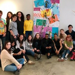 CHS art students at Second Street Gallery worked with American-Nigerian artist Adejoke Tugbiyele to create a collaborative work of art