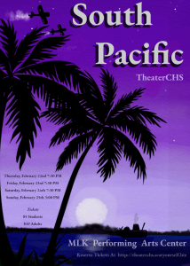 "Poster of ""South Pacific"" theater production"
