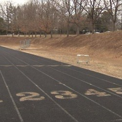 Photo of 6-lane CHS outdoor track courtesy Newsplex.