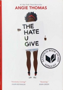 "The book ""The Hate You Give."""