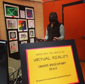 Virtual reality exhibit at ArtConnections 2018.