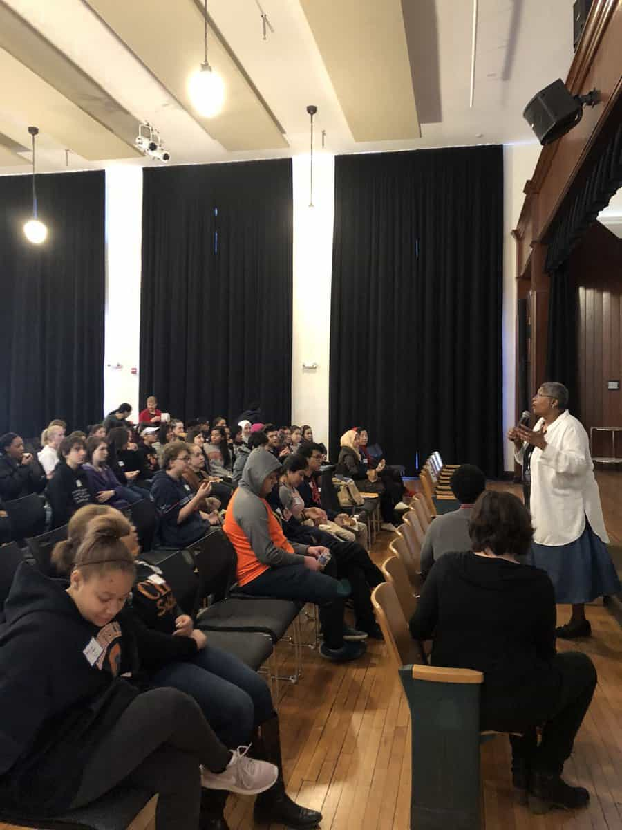 Students at Jefferson School African American Heritage Center for Dialogue on Race