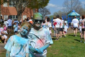 Burnley-Moran color run participants.