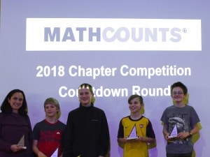 Buford MathCounts team places 2nd in regional competition!