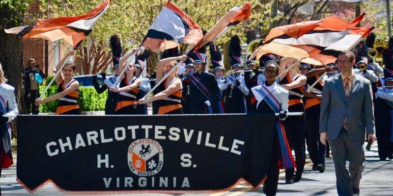 CHS Band Dogwood Festival Parade 2018 2_solil