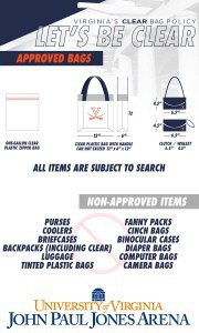 JPJ Arena Clear Bag policy