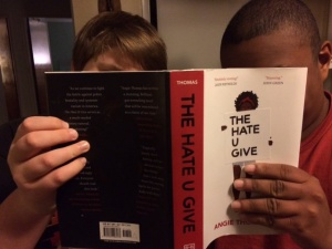 CHS students holding The Hate U Give