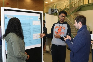 CHS Biology 2 students presenting at UVA-sponsored medical symposium