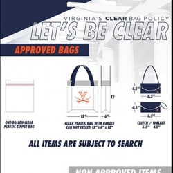 JPJ Arena Clear Bag Policy Graphic
