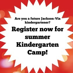 Graphic for Jackson-Via Kindergarten Camp Registration