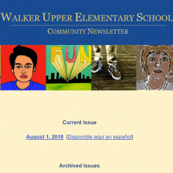 Screenshot of the Walker Community Newsletter