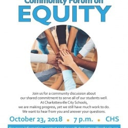 Floyer for Equity Forum to be held at CHS on 10/23 at 7pm.