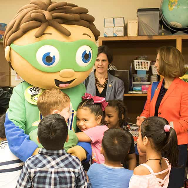Super-Why and First Lady at Greenbrier