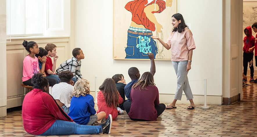Students visit Fralin Museum of Art at UVA