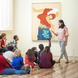 Students visit the Fralin Museum of Art at The University of Virginia for the Writers Eye program. Photo Credit: coe sweet photography