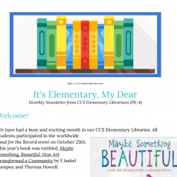 Screenshot of librarians' November newsletter