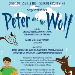 "Screen shot of marketing poster for ""Peter and the Wolf"" performance."