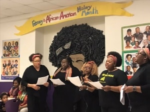 """Ladies of Soul"" perform at annual Clark Elementary Soul Feast."