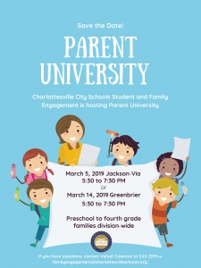 Flyer for Parent University 2019