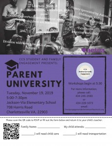 FLyer for 2019 Parent University