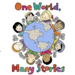 "graphic ""One World, Many Stories"""