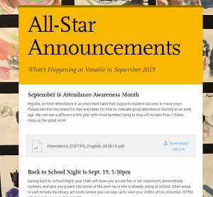 Venable newsletter screenshot