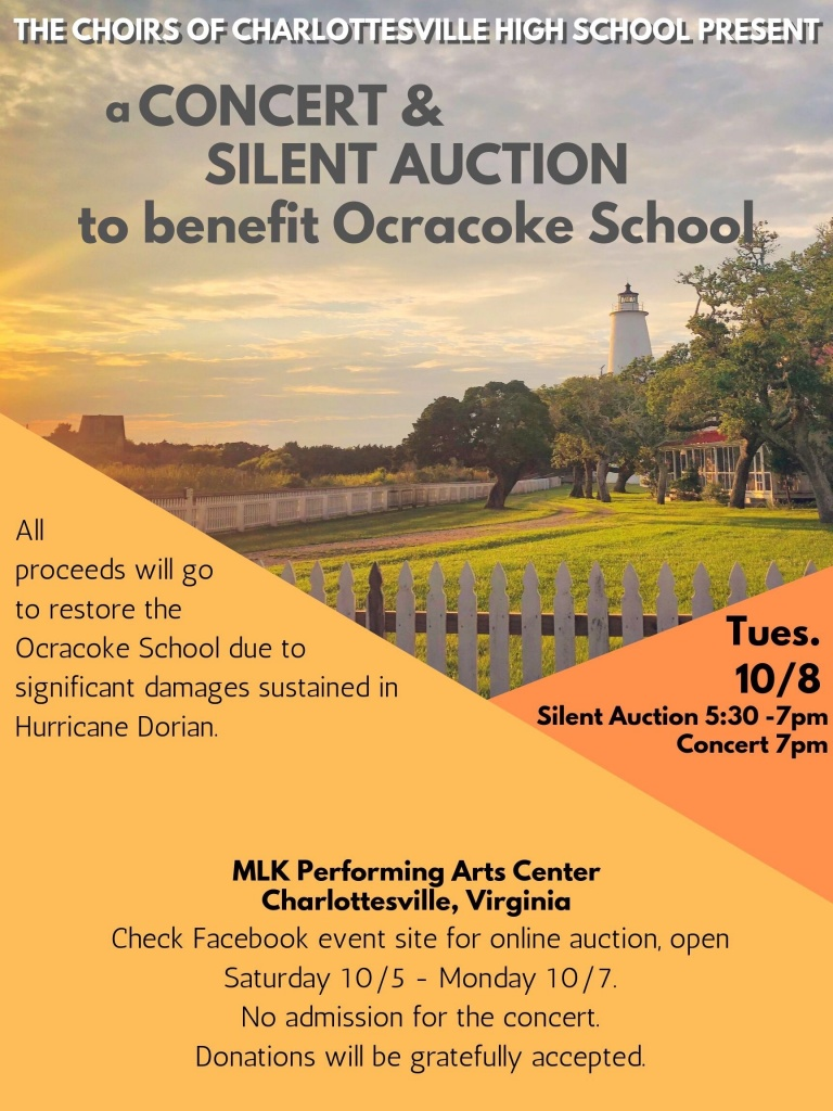 poster to advertise concert and silent auction