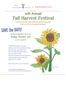 Poster for 2019 Fall Harvest Festival