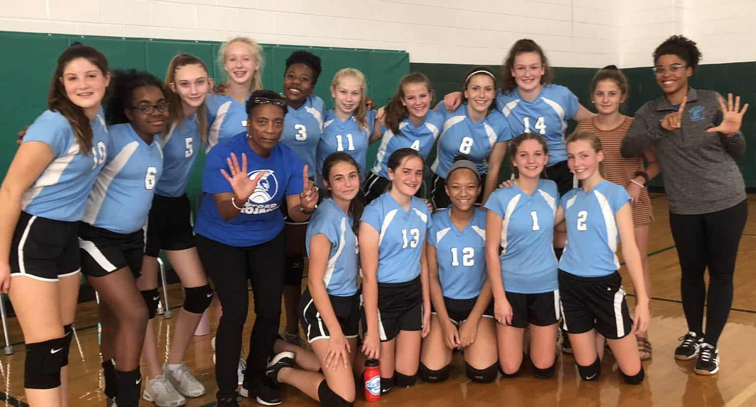 Buford volleyball team has a record of 13-2!
