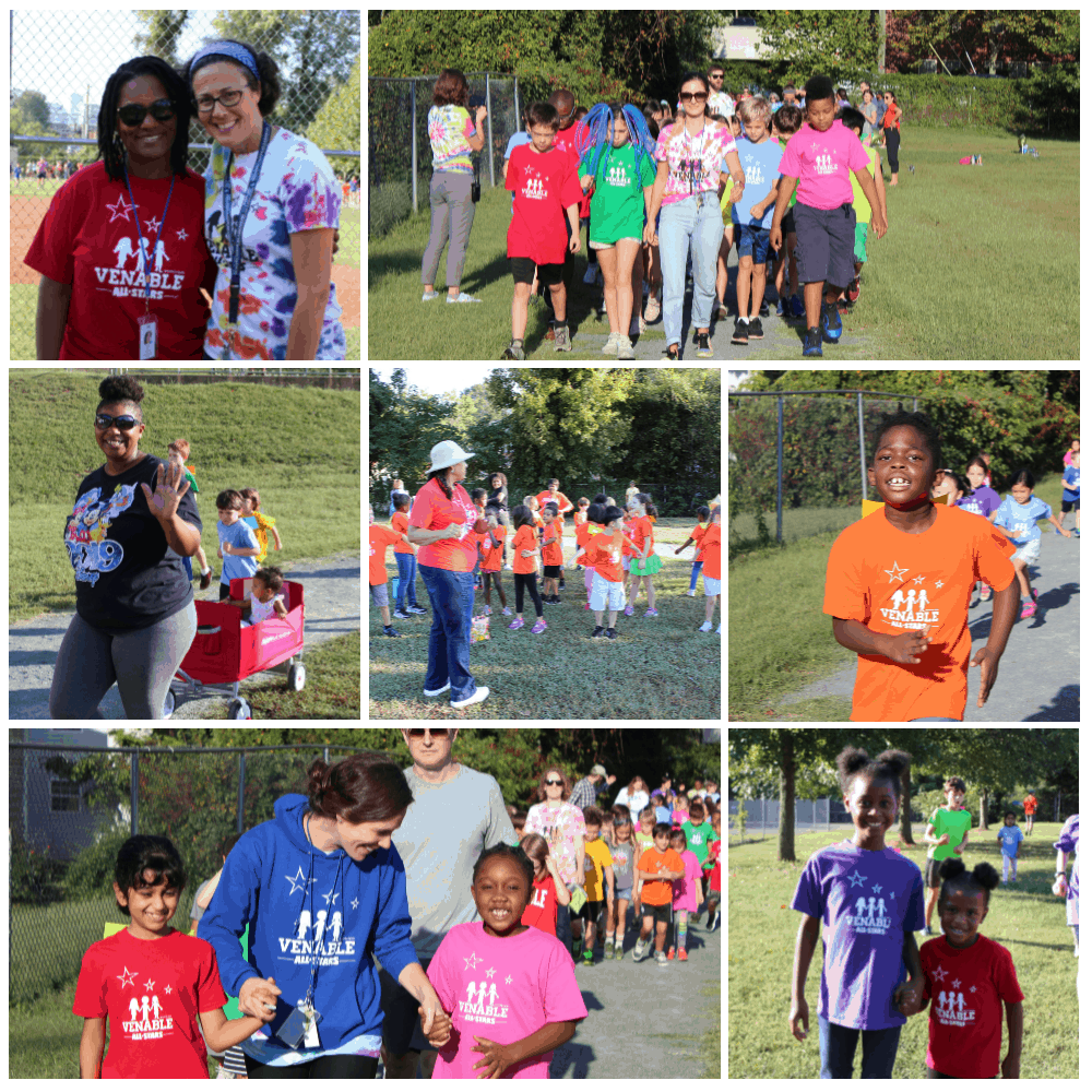 Collage of Venable Walk-a-Thon 2019 photos